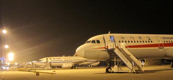 太原机场接收备降航班22架