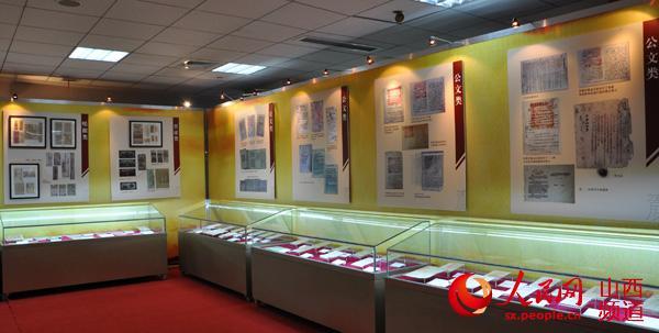 展览形式包括展柜陈列展示