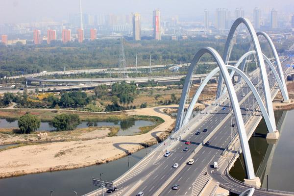 中铁大桥局太原北中环桥建设纪实:三晋之地写华章图片