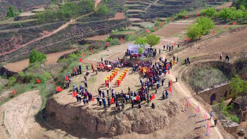 (乔慧)5月7日,五村播种节活动在山西省武乡县故县乡五村的移民