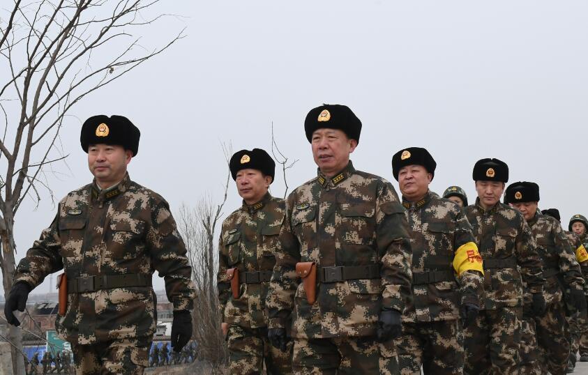武警山西总队冬季实战化野营拉练掠影