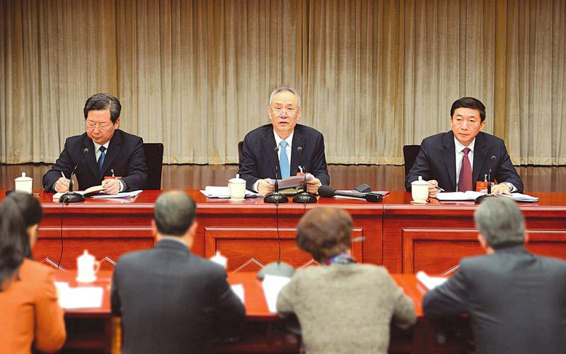 山西代表团审议宪法修正案草案 刘鹤骆惠宁楼阳生参加审议