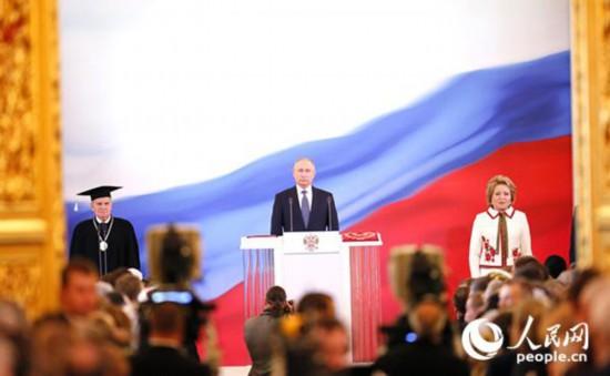 """开启""""第四任期"""" 普京承诺竭尽所能奉献俄罗斯"""