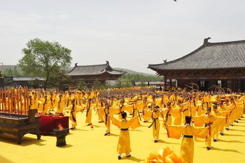 弘扬中华传统文化 海峡两岸万人祭拜神农炎帝