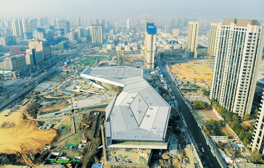 滨河体育中心建筑主体已经完工
