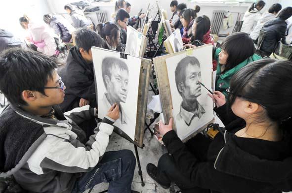 艺术类考生冲刺美术联考