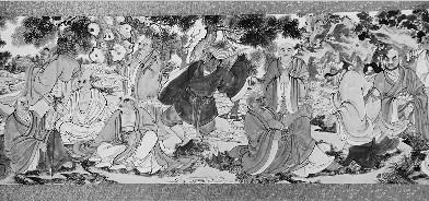 张占平创作的《八百罗汉神通现化图》大型展览正在该县展出,每天